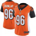 Cheap Nike Bengals #96 Carlos Dunlap Orange Alternate Women's Stitched NFL Vapor Untouchable Limited Jersey