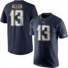 Cheap Los Angeles Chargers #13 Keenan Allen Nike Player Pride Name & Number T-Shirt Navy
