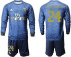 Cheap Real Madrid #24 D.Ceballos Away Long Sleeves Soccer Club Jersey