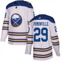 Cheap Adidas Sabres #29 Jason Pominville White Authentic 2018 Winter Classic Stitched NHL Jersey