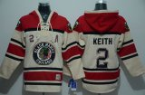 Cheap Blackhawks #2 Duncan Keith Cream Sawyer Hooded Sweatshirt Stitched NHL Jersey