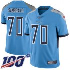 Cheap Nike Titans #70 Ty Sambrailo Light Blue Alternate Youth Stitched NFL 100th Season Vapor Untouchable Limited Jersey
