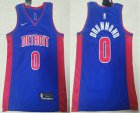 Cheap Men's Detroit Pistons #0 Andre Drummond Blue 2019 Nike Swingman Stitched NBA Jersey