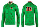 Cheap NFL Cincinnati Bengals Team Logo Jacket Green