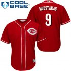 Cheap Reds #9 Mike Moustakas Red New Cool Base Stitched MLB Jersey