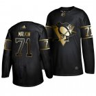 Cheap Adidas Penguins #71 Evgeni Malkin Men's 2019 Black Golden Edition Authentic Stitched NHL Jersey