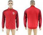 Cheap Atletico Madrid Soccer Jackets Red