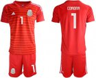 Cheap Mexico #1 Corona Red Goalkeeper Soccer Country Jersey