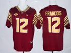 Cheap Men's Florida State Seminoles #12 Deondre Francois Red Stitched College Football 2016 Nike NCAA Jersey