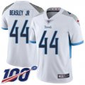 Cheap Nike Titans #44 Vic Beasley Jr White Youth Stitched NFL 100th Season Vapor Untouchable Limited Jersey