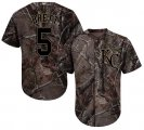 Cheap Royals #5 George Brett Camo Realtree Collection Cool Base Stitched Youth MLB Jersey