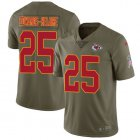 Cheap Nike Chiefs #25 Clyde Edwards-Helaire Olive Youth Stitched NFL Limited 2017 Salute To Service Jersey
