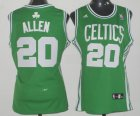 Cheap Boston Celtics #20 Ray Allen Green Womens Jersey