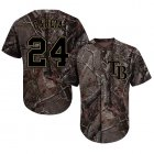 Cheap Rays #24 Avisail Garcia Camo Realtree Collection Cool Base Stitched MLB Jersey