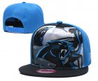Cheap Panthers Team Logo Blue Black Adjustable Leather Hat TX