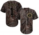 Cheap Rangers #1 Elvis Andrus Camo Realtree Collection Cool Base Stitched Youth MLB Jersey