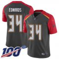 Cheap Nike Buccaneers #34 Mike Edwards Gray Men's Stitched NFL Limited Inverted Legend 100th Season Jersey