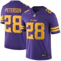 Cheap Nike Vikings #28 Adrian Peterson Purple Men's Stitched NFL Limited Rush Jersey