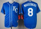 Cheap Royals #8 Mike Moustakas Blue Alternate 2 Cool Base Stitched MLB Jersey