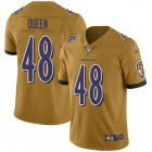 Cheap Nike Ravens #48 Patrick Queen Gold Youth Stitched NFL Limited Inverted Legend Jersey