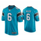 Cheap Men's Carolina Panthers #6 P.J. Walker Blue Game Nike Jersey