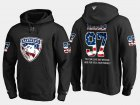 Cheap Panthers #97 Esa Tikkanen NHL Banner Wave Usa Flag Black Hoodie