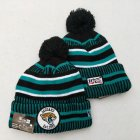 Cheap Jaguars Team Logo Green 100th Season Pom Knit Hat YD
