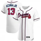 Cheap Atlanta Braves #13 Ronald Acuna Jr. Men's Nike White Home 2020 Authentic Player MLB Jersey