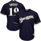 Cheap Brewers #19 Robin Yount Navy blue Cool Base Stitched Youth MLB Jersey