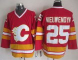 Cheap Flames #25 Joe Nieuwendyk Red CCM Throwback Stitched NHL Jersey