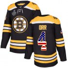 Cheap Adidas Bruins #4 Bobby Orr Black Home Authentic USA Flag Stanley Cup Final Bound Youth Stitched NHL Jersey
