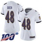 Cheap Nike Ravens #48 Patrick Queen White Women's Stitched NFL 100th Season Vapor Untouchable Limited Jersey