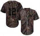 Cheap Brewers #12 Stephen Vogt Camo Realtree Collection Cool Base Stitched Youth MLB Jersey