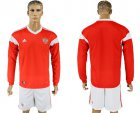 Cheap Russia Blank Red Home Long Sleeves Soccer Country Jersey