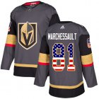 Cheap Adidas Golden Knights #81 Jonathan Marchessault Grey Home Authentic USA Flag Stitched Youth NHL Jersey