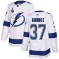 Cheap Adidas Lightning #37 Yanni Gourde White Road Authentic 2020 Stanley Cup Final Stitched NHL Jersey