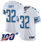 Cheap Nike Lions #32 D'Andre Swift White Youth Stitched NFL 100th Season Vapor Untouchable Limited Jersey
