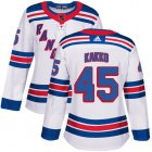 Cheap Adidas Rangers #45 Kappo Kakko White Road Authentic Women's Stitched NHL Jersey