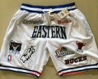 Cheap All-Star Eastern White JUST DON By Mitchell & Ness Shorts