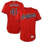 Cheap Indians #41 Carlos Santana Red Flexbase Authentic Collection Stitched MLB Jersey