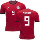Cheap Egypt #9 Marwan Red Home Soccer Country Jersey
