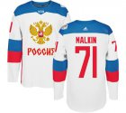 Cheap Team Russia #71 Evgeni Malkin White 2016 World Cup Stitched NHL Jersey