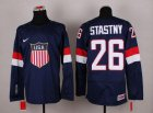 Cheap 2014 Olympic Team USA #26 Paul Stastny Navy Blue Stitched NHL Jersey