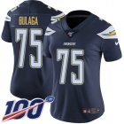 Cheap Nike Chargers #75 Bryan Bulaga Navy Blue Team Color Women's Stitched NFL 100th Season Vapor Untouchable Limited Jersey