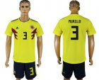 Cheap Colombia #3 Murillo Home Soccer Country Jersey