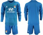 Cheap Lyon Blank Blue Goalkeeper Long Sleeves Soccer Club Jersey