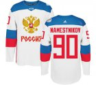 Cheap Team Russia #90 Vladislav Namestnikov White 2016 World Cup Stitched NHL Jersey