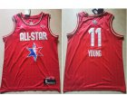 Cheap Men's Atlanta Hawks #11 Trae Young Red Jordan Brand 2020 All-Star Game Swingman Stitched NBA Jersey
