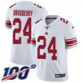 Cheap Nike Giants #24 James Bradberry White Youth Stitched NFL 100th Season Vapor Untouchable Limited Jersey