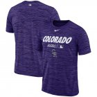 Cheap Colorado Rockies Nike Authentic Collection Velocity Team Issue Performance T-Shirt Purple